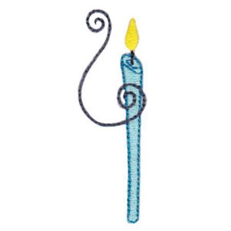 Birthday Candles Alphabet Lower Case y