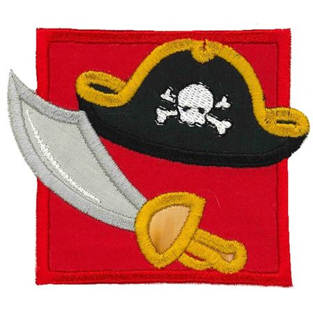 Pirate Hat and Sword Applique