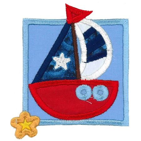 Nautical Sail Boat Applique