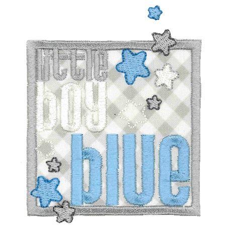 Little Boy Blue Applique