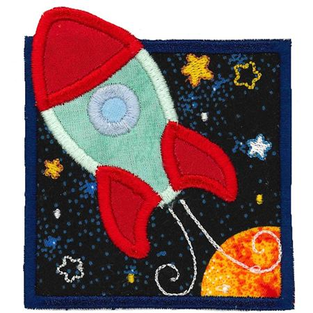 Rocket Ship Applique