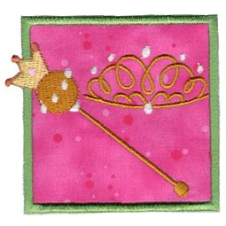 Princess Crown and Scepter Applique