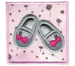 Baby Girl Booties Applique