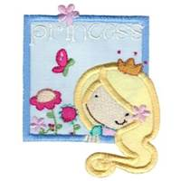 Box Girl Applique