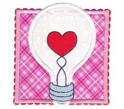 Heart Lightbulb Applique