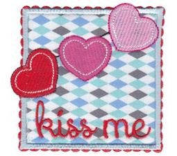 Kiss Me Applique