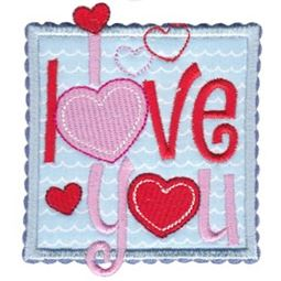 I Love You Applique
