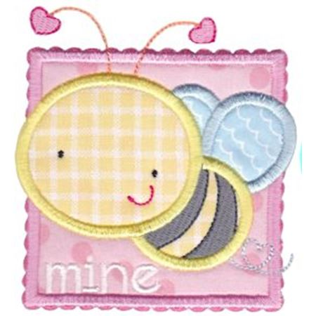 Bee Mine Applique