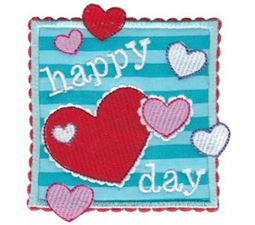 Happy Heart Day Applique