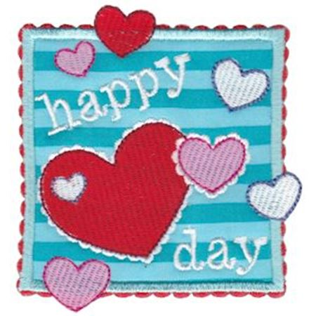 Happy Heart Day Applique