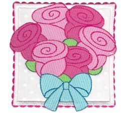 Rose Bouquet Applique