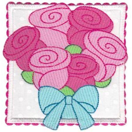 Rose Bouquet Applique