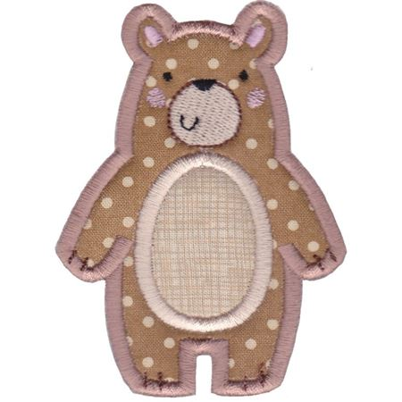 Boxy Bear Applique