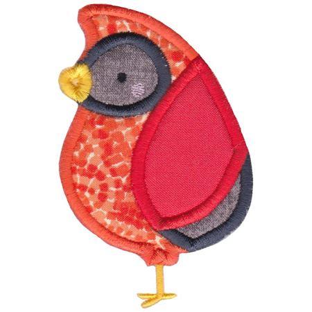 Boxy Cardinal Applique