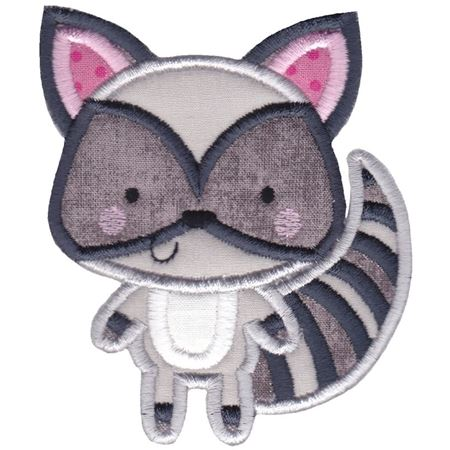 Boxy Raccoon Applique