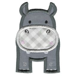 Applique Hippo