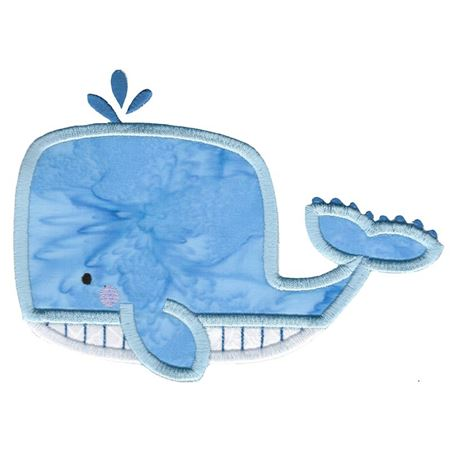 Boxy Whale Applique