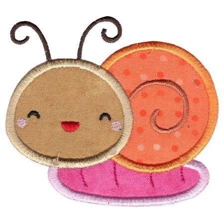 Cute Snail Applique