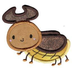 Cute Rhino Beetle Applique