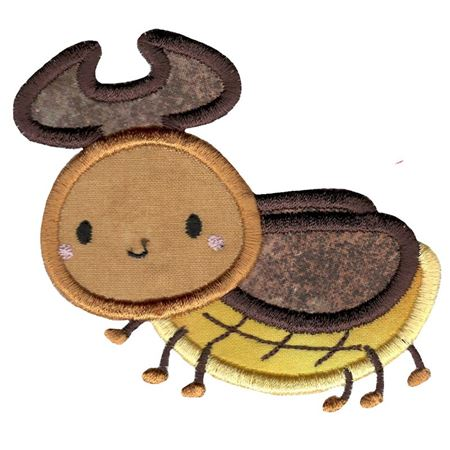 Cute Rhino Beetle Applique