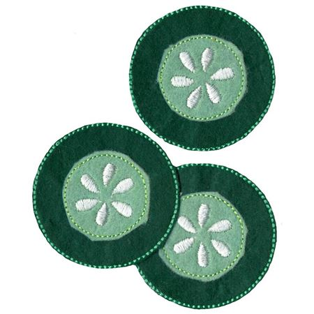 Cucumber Slice Felties