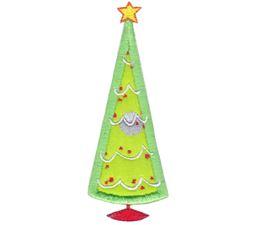 Cute Christmas Tree Applique