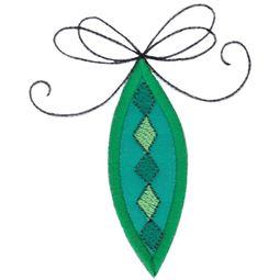 Green Retro Christmas Ornament
