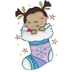 Baby In Christmas Stocking