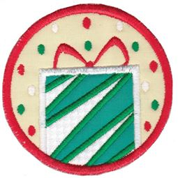 Christmas Present ITH Coaster