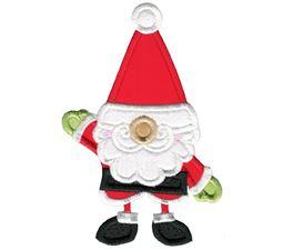 Santa Claus Gnome Applique