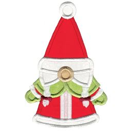 Mrs Claus Gnome Applique