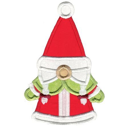 Mrs Claus Gnome Applique
