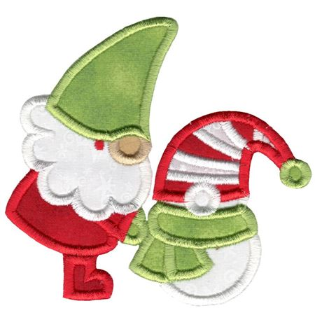 Gnome and Snowman Applique