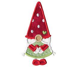 Girl Gnome Applique