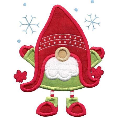 Ear Flap Hat Gnome Applique