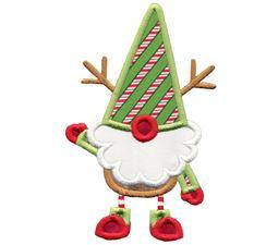 Boy Reindeer Gnome Applique