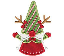 Girl Reindeer Gnome Applique
