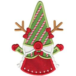 Girl Reindeer Gnome Applique