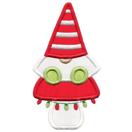 Boy Gnome Sitting On Mushroom Applique