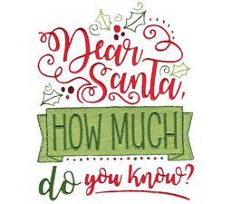 Dear Santa How Much Do You Know