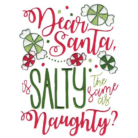 Dear Santa Is Salty The Same As Naughty