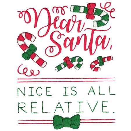 Dear Santa Nice Is All Relative