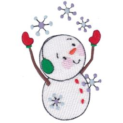 Snowman And Snowflakes