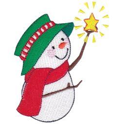Snowman Holding Star