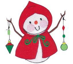 Snowman Holding Ornaments
