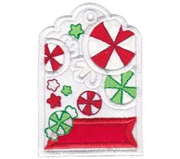 Peppermint Candy Christmas Tag