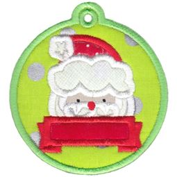 Santa Face Christmas Tag