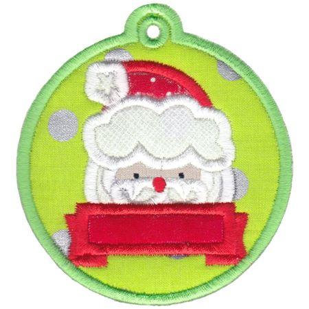 Santa Face Christmas Tag