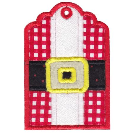 Santa's Jacket Christmas Tag