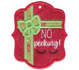 No Peeking Christmas Tag